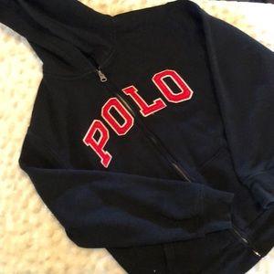 Ralph Lauren POLO zippered hoodie.